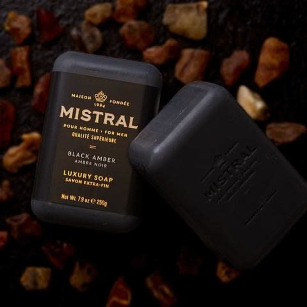 Mistral Barre de savon Mistral AMBRE NOIRE