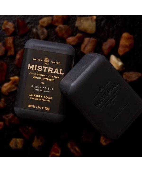 Barre de savon Mistral AMBRE NOIRE
