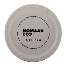 Nomaad Eco NOMAAD ECO - Tasse Fibre Bambou -Maïs avec Couvercle & Manchon en Silicone - Pattes de Chat - 473ml