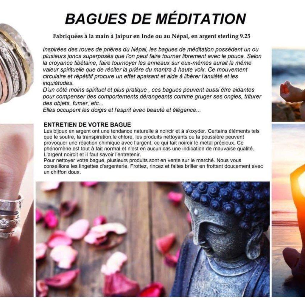 Aux  3  Muses Bague de Méditation Trilogie