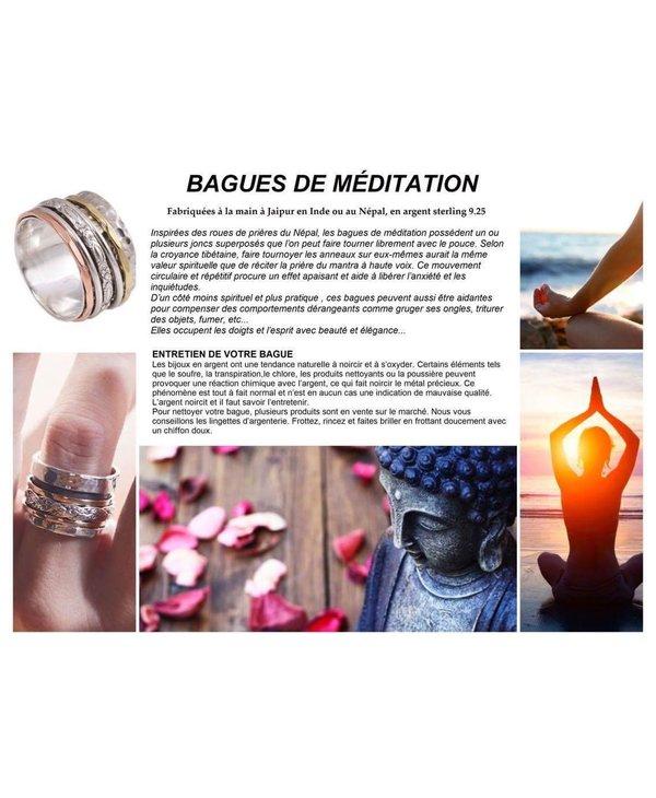Bague de Méditation Trilogie