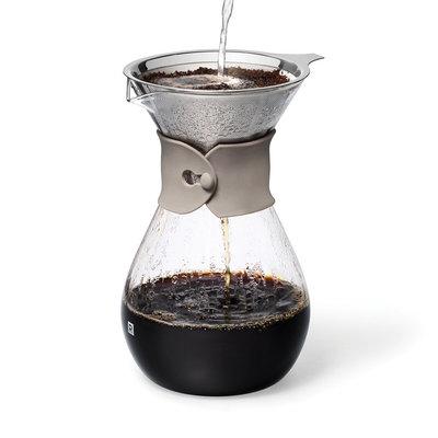 Carafe à café en verre et filtre réutilisable Ricardo