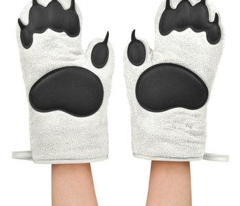 Mitaine de four Bear Hand white