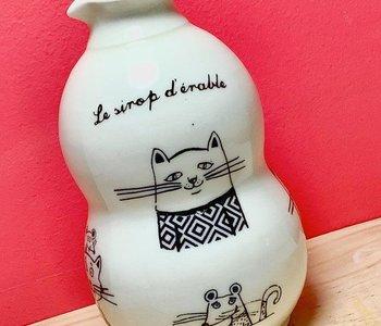 Pichet à sirop d'érable chats de Weilbrenner & Lebeau