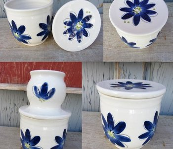 Beurrier breton Weilbrenner & Lebeau Fleur bleu