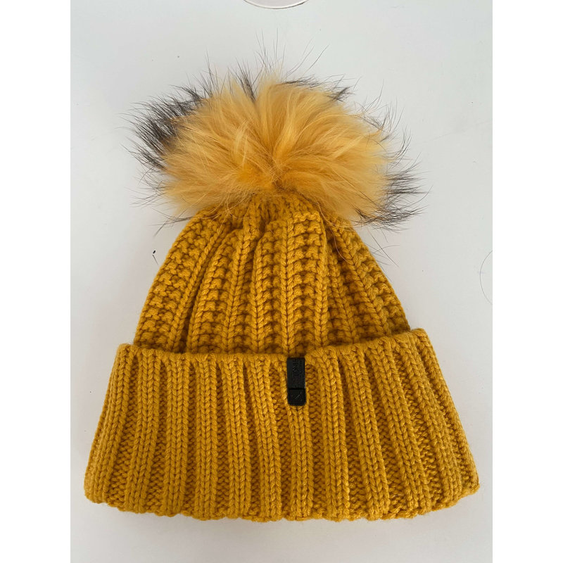 TOM & EVA Tuque Orange jaune