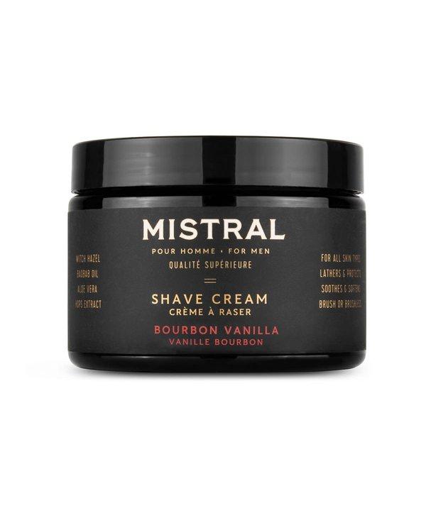 Crème à raser Mistral Bourbon Vanille