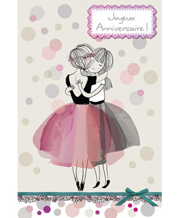 Carte de souhait Joyeux Anniversaire Ballerines