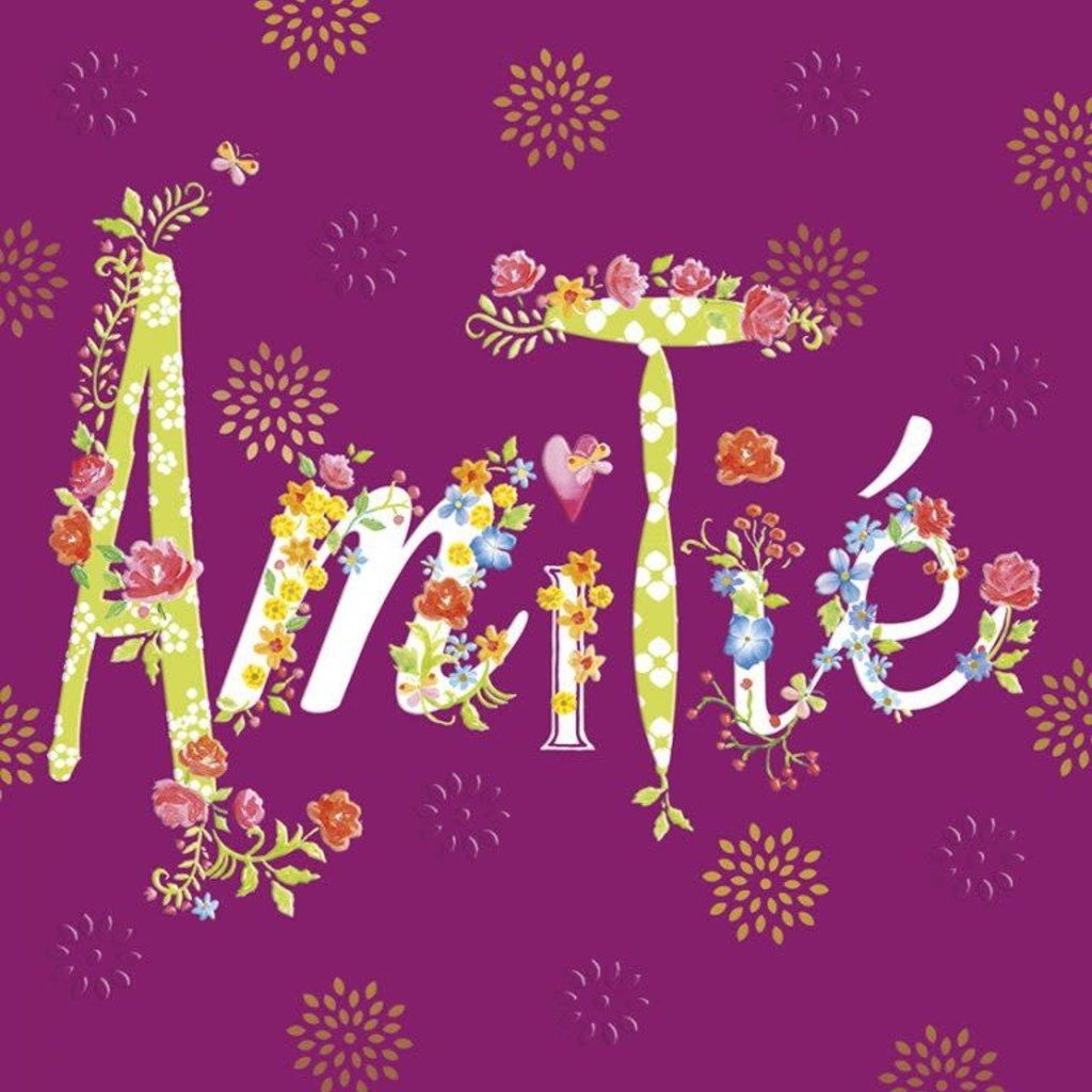 Carte de souhait  Amitié