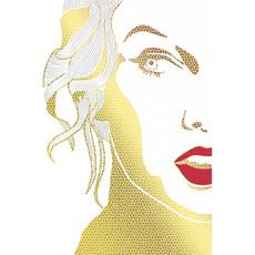 Carte de souhait femme lèvre rouge