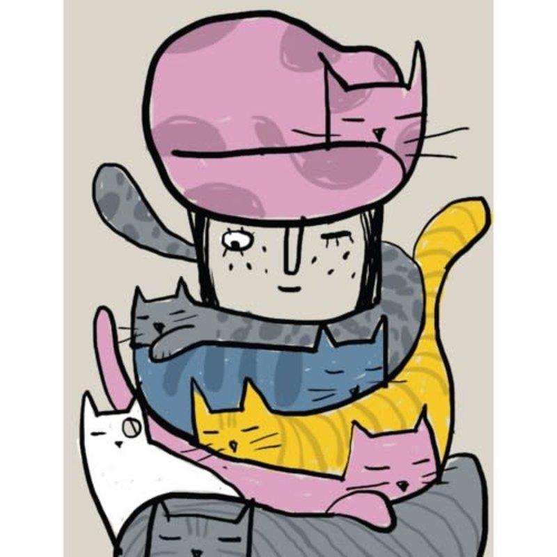 Carte de souhait Cat lady