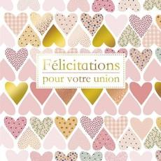 Carte de souhait Félicitation coeurs