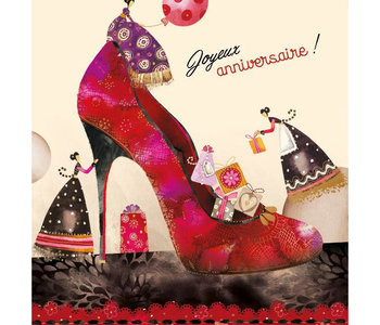 Carte de souhait Joyeux anniversaire chaussure