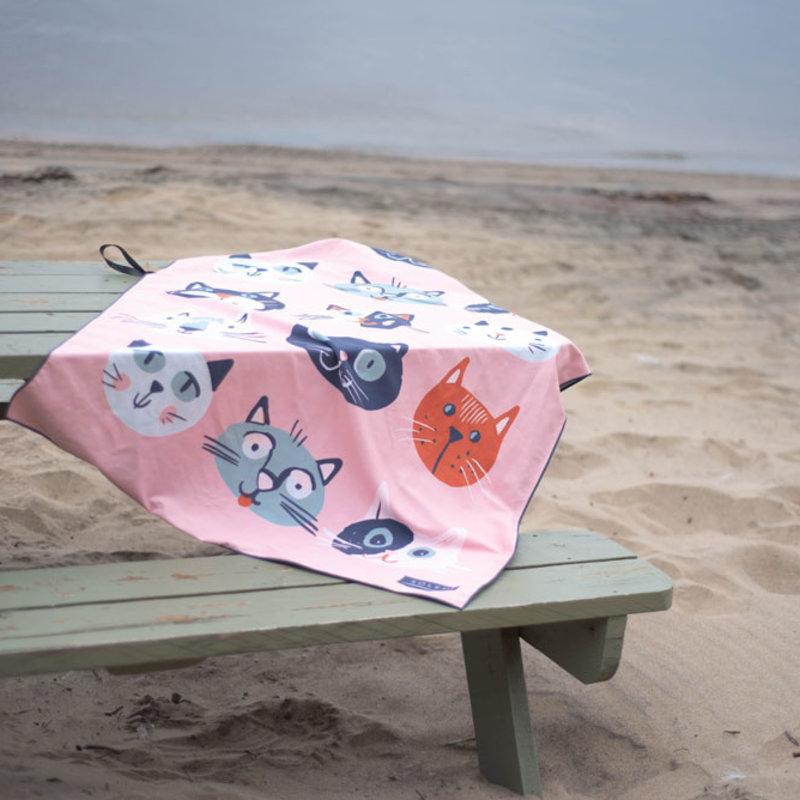Solem Serviette de plage Chat-l'heureuse