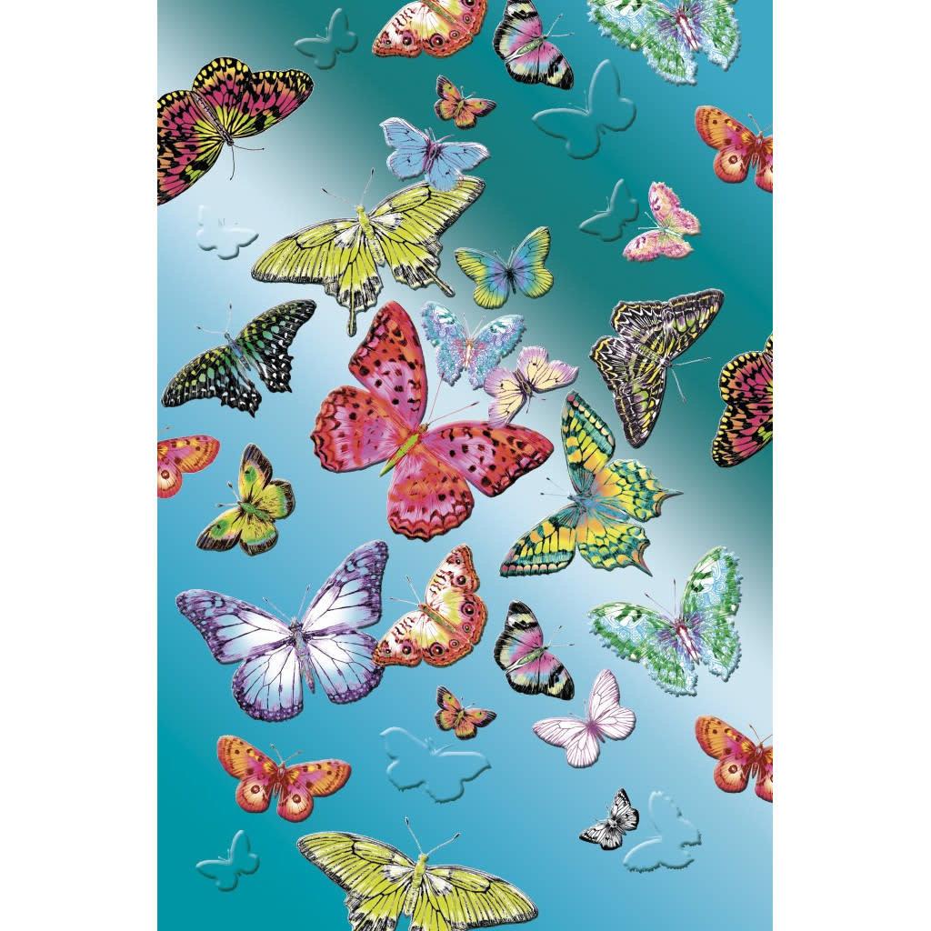 Carte de souhait Papillons métalisé