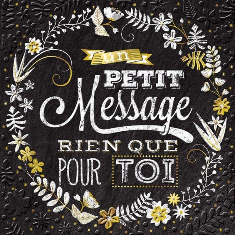 Carte de souhait Un petit message rien que pour toi