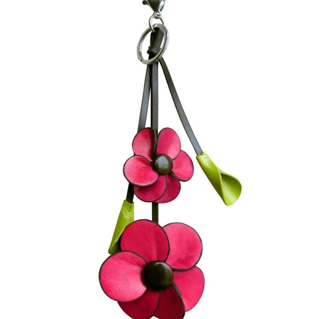 Espe Porte clés fleur rouge