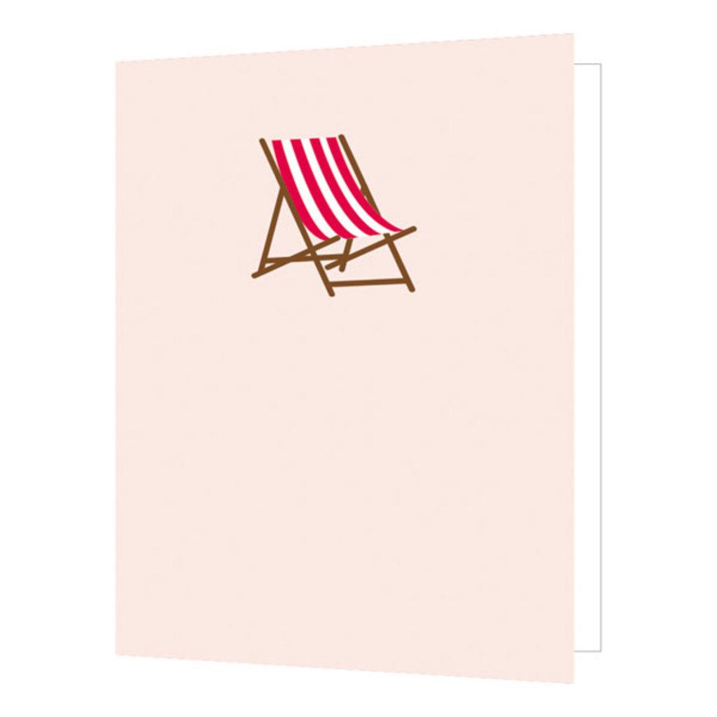 Carte de souhait chaise de pelouse