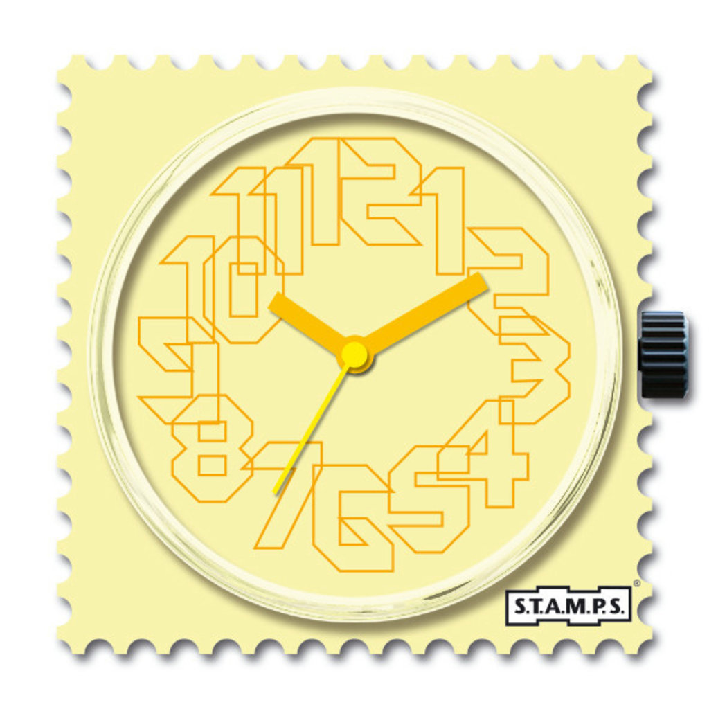 Montre Stamps Montre Stamps Yellow Iris