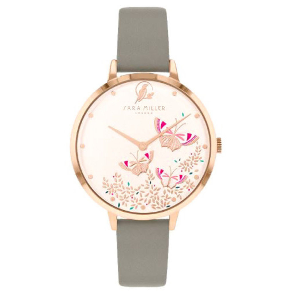 Sara Miller Montre Sara Miller BUTTERFLY ROSEGOLD GREY WATCH