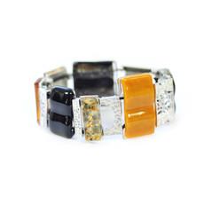 Cré-Art Bracelet complex Mosaik jaune