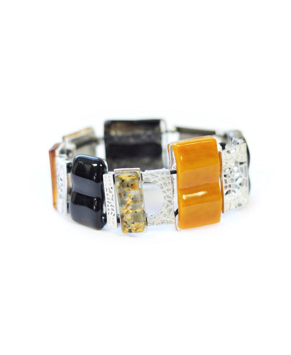 Bracelet complex Mosaik jaune
