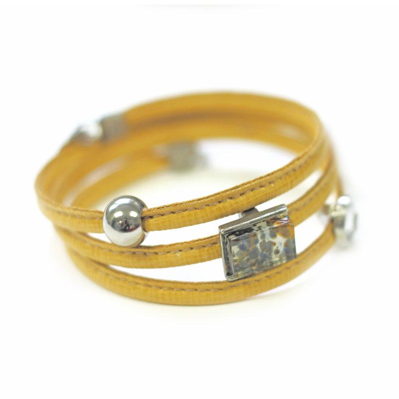 Cré-Art Bracelet Le Twist jaune