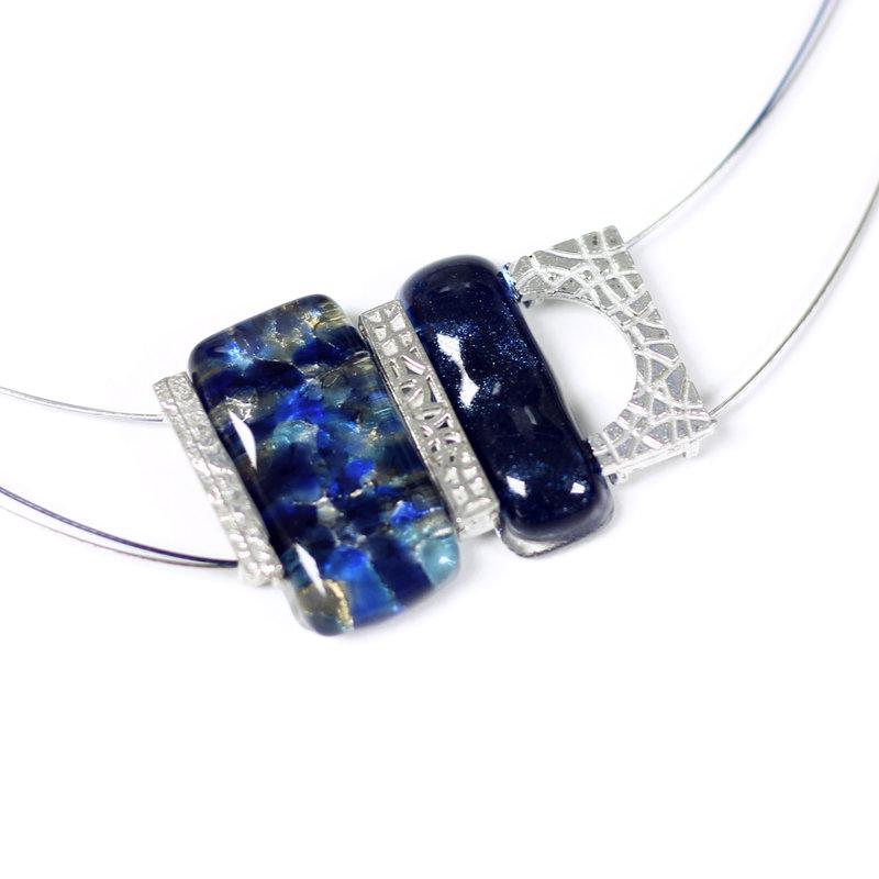 Cré-Art Collier pendantif mosaik bleu