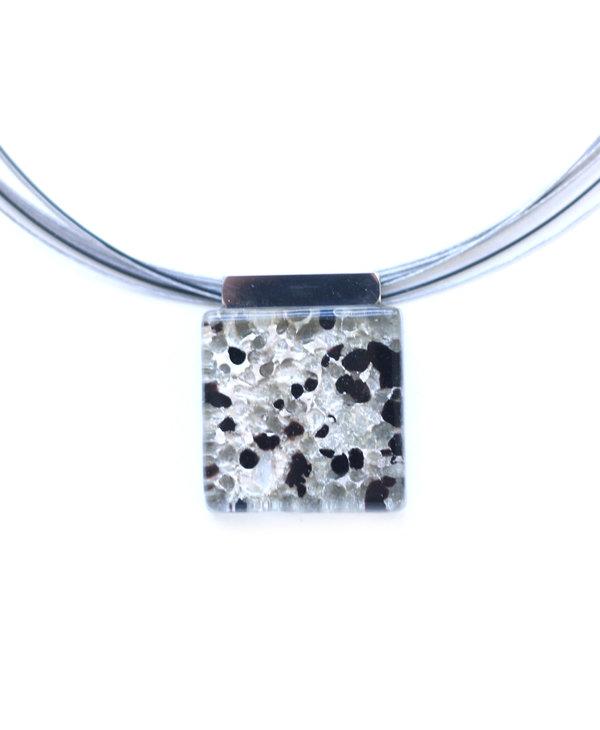 Collier pendantif Loza noir