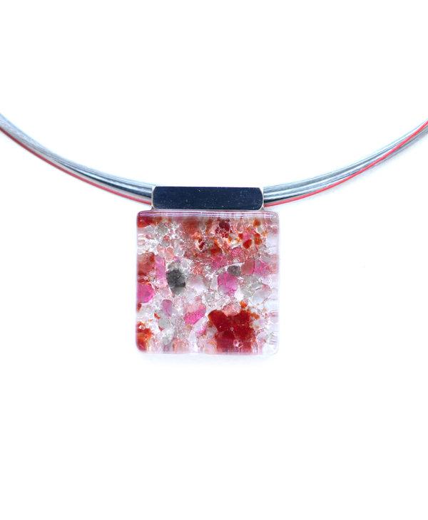 Collier pendantif Loza corail