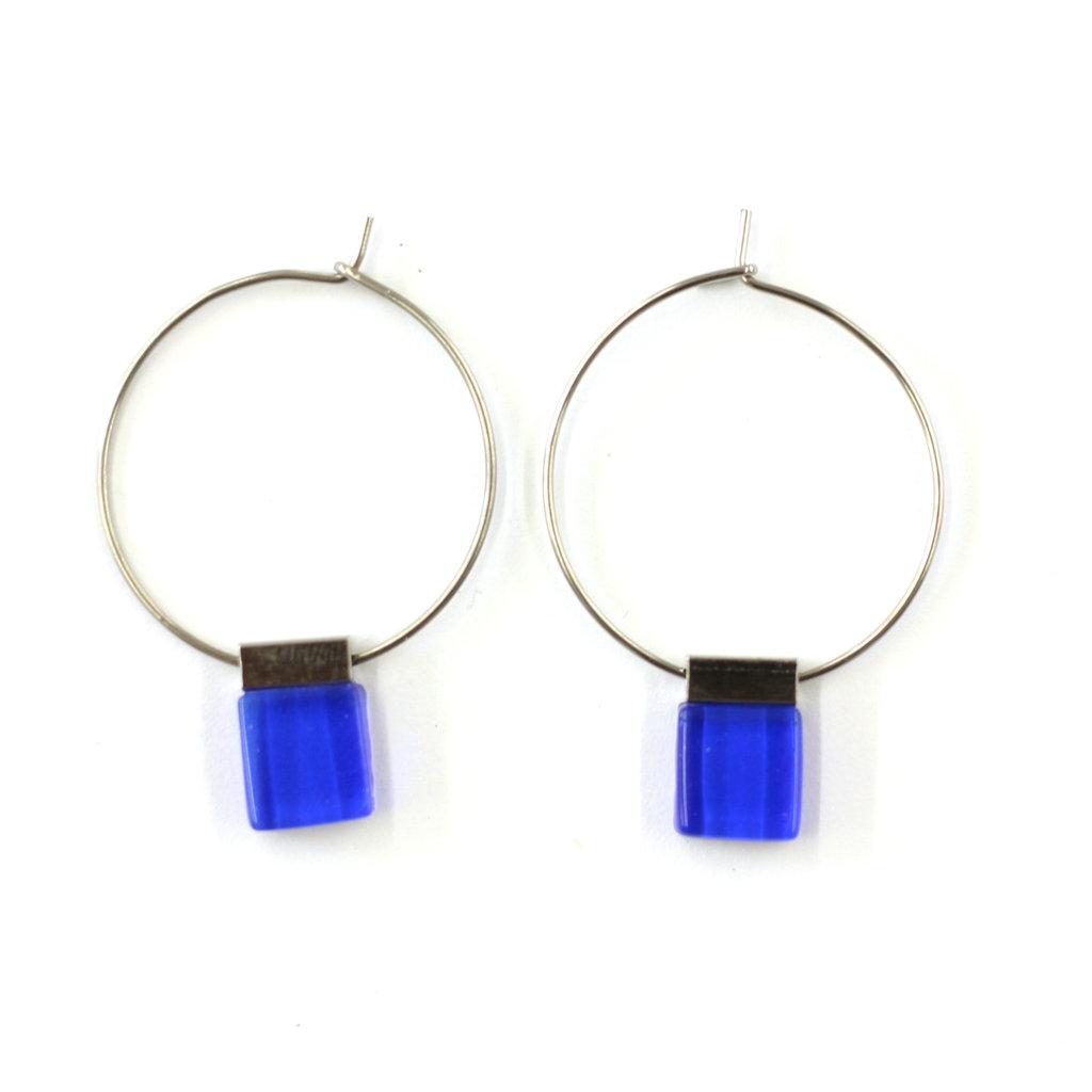 Cré-Art Boucle d'oreilles Misty bleu