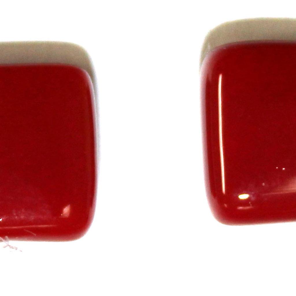 Cré-Art Boucle d'oreilles carré rouge