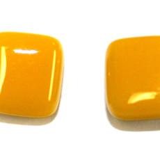 Cré-Art Boucle d'oreilles carré jaune