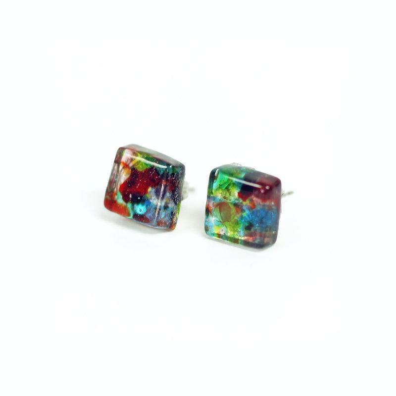 Cré-Art Boucle d'oreilles à motif multi