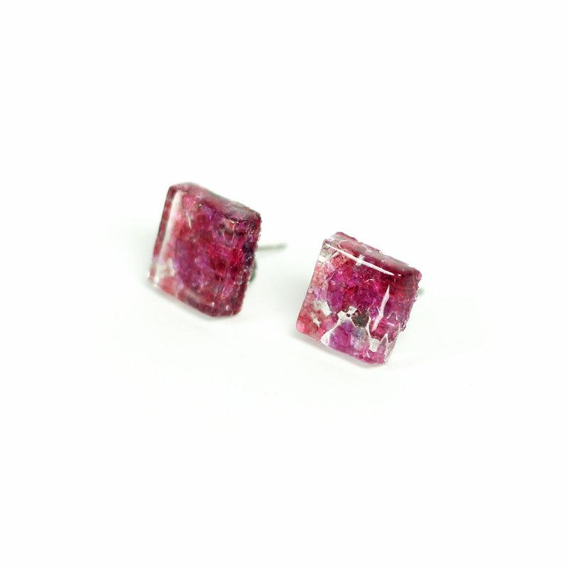 Cré-Art Boucle d'oreilles motif rose