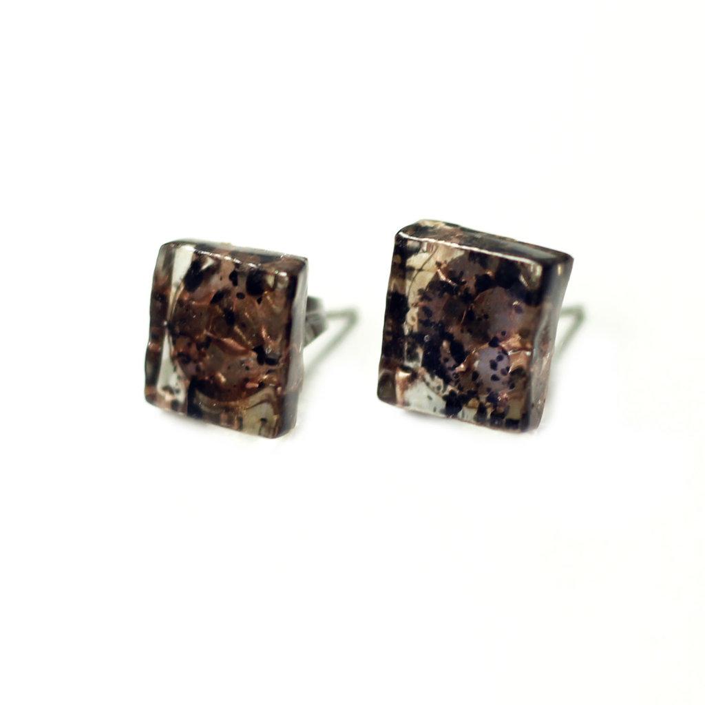 Cré-Art Boucle d'oreilles motif bronze rose