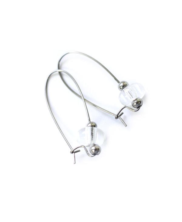 Boucle d'oreilles luxury clair