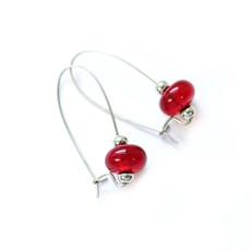 Cré-Art Boucle d'oreilles luxury rouge