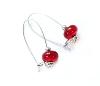 Boucle d'oreilles luxury rouge