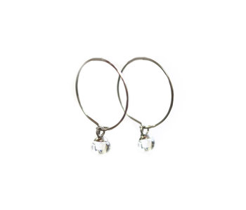 Boucle d'oreilles anneaux light clair