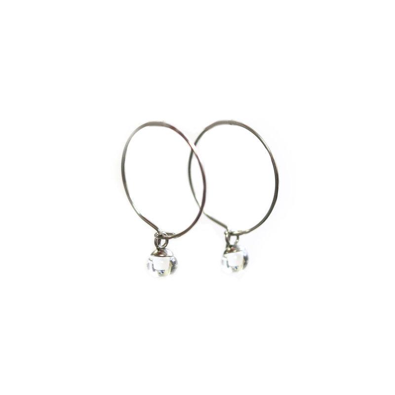 Cré-Art Boucle d'oreilles anneaux light clair