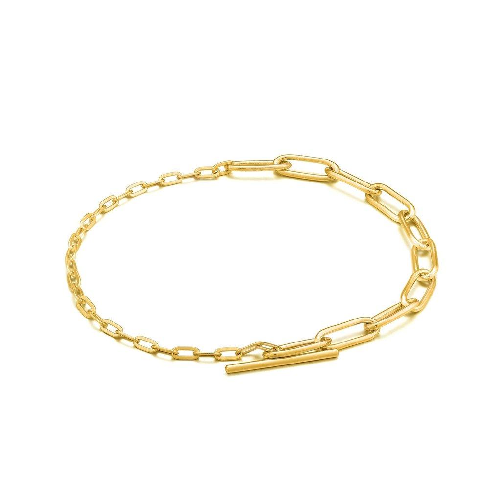 Ania Haie Bracelet Ania Haie Gold Mixed Link T-bar