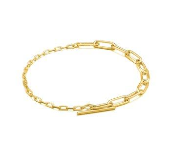Bracelet Ania Haie Gold Mixed Link T-bar