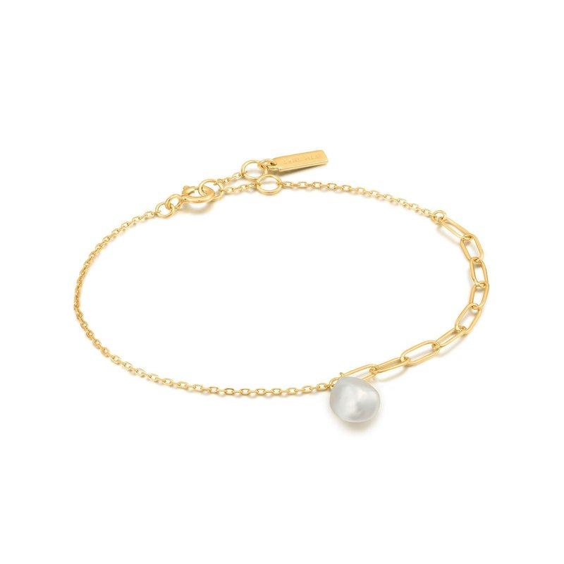 Ania Haie Bracelet Ania Haie Gold Pearl Chunky