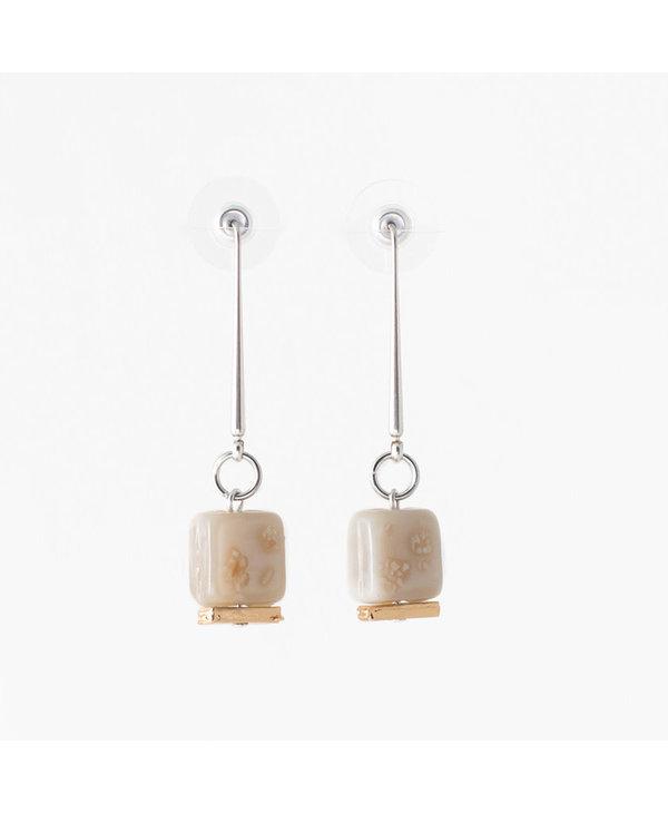 Boucles d'oreilles Anne-Marie Chagnon  Coralia  sable
