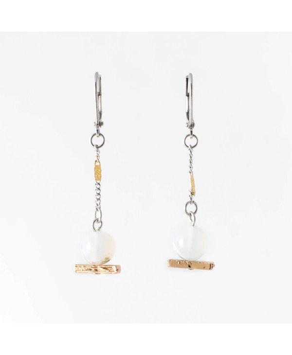 Boucles d'oreilles Anne-Marie Chagnon  Candice bronze