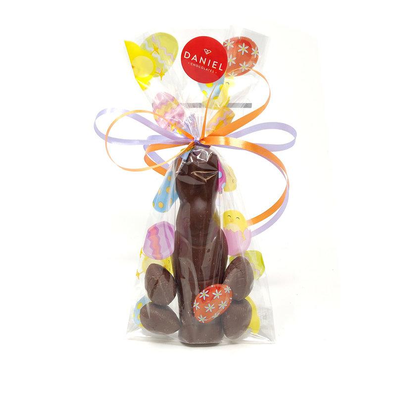 Daniel Chocolates Mr Slim bunny avec 4 mini-oeufs