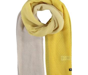 Foulard polyester ombre plissé wrap citron