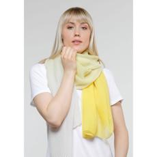 Fraas Foulard polyester ombre plissé wrap citron