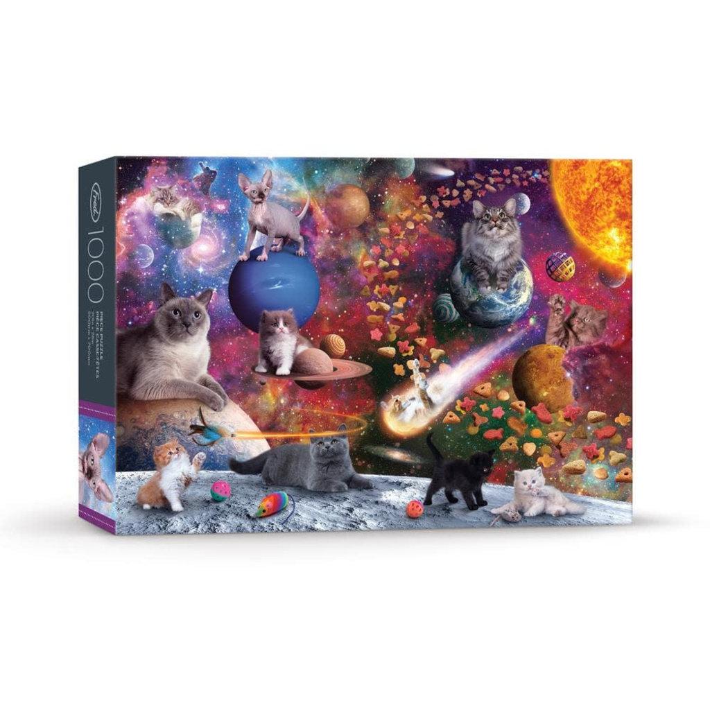 Fred & Friends Casse-tête 1000 morceaux Norwood galaxy cats